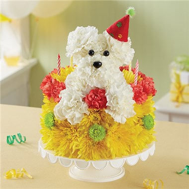 1 800 Flowers 174 Birthday Wishes Flower Cake Pupcake